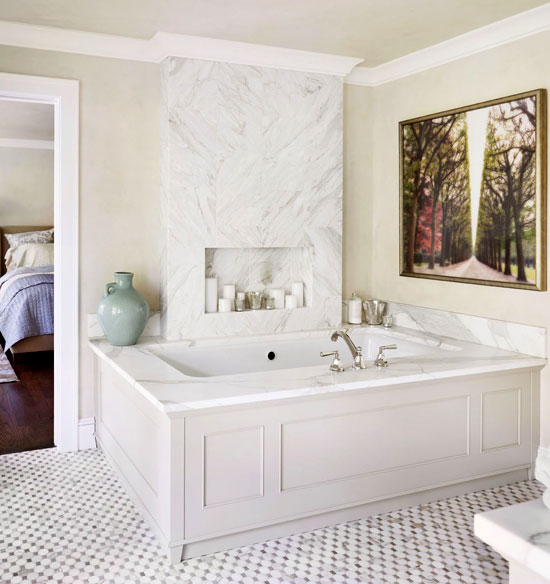 Marble-Wrapped Master Bath