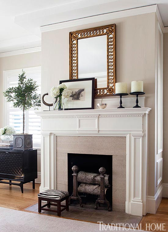 A classic mantel adds character to any fireplace