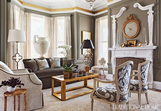 gorgeous gray living room couch enlarge eric roth gray and gold showhouse living room this sitting rooms gorgeous millwork inspired decorating gorgeous rooms traditional home