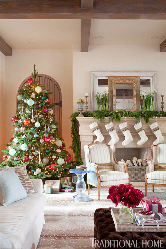 enlarge - Fireplace Mantel Christmas Decor