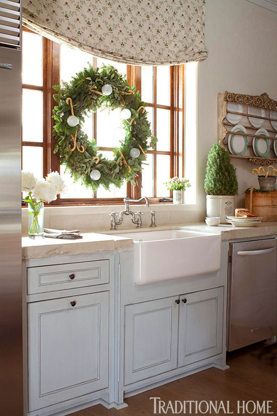 Decorating: Holiday Wreaths | Traditional Home on country decorating with old windows, decorating ideas for living room, decorating ideas for bedrooms, decorating ideas for fireplaces, decorating above kitchen window ideas, decorating ideas for dining room, decorating ideas for doors, decorating ideas for vaulted ceilings, decorating ideas for mirrors, decorating ideas for decks, decorating ideas for floors,