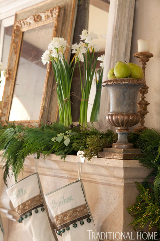 enlarge - Images Of Fireplace Mantels Decorated For Christmas