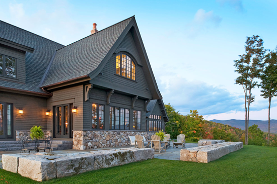 Mountain home with great views traditional home for Mountain house plans with a view