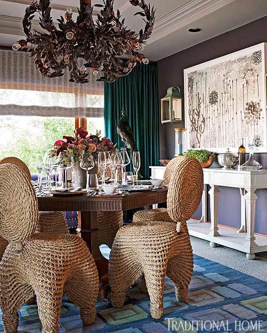 Feast Your Eyes Gorgeous Dining Room Decorating Ideas: Colorful Showhouse Rooms