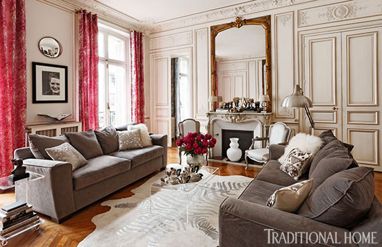 Paris Apartment Decorating Style colorful and romantic paris apartment | traditional home