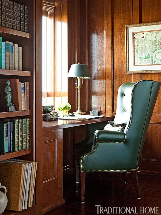 Awesome home office furniture john schultz Architects Enlarge Pieter Estersohn And John Bessler Library Desk Niche Shults Ford New York Apartment With Elegant British Style Traditional Home