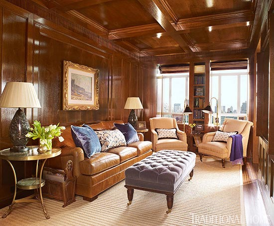 New york apartment with elegant british style traditional home for How to decorate a traditional living room