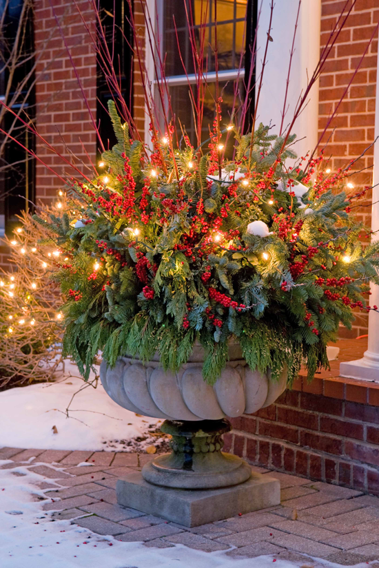Holiday outdoor decorating tips from mariani landscape Traditional outdoor christmas decorations