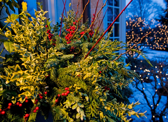 holiday outdoor decorating tips from mariani landscape - Natural Outdoor Christmas Decorations