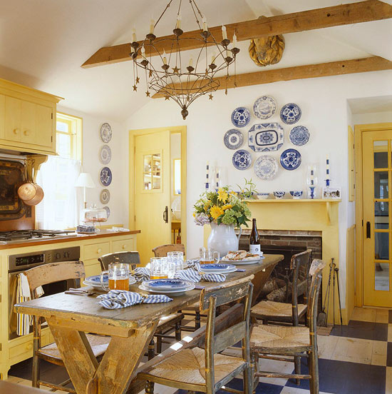 Designer gary mcbournie through the years in traditional for White kitchen cabinets turning yellow