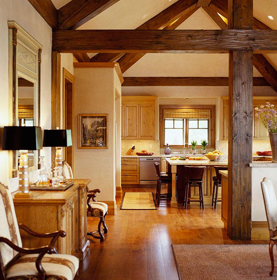 Comfort And Style For A Rustic Mountain Home