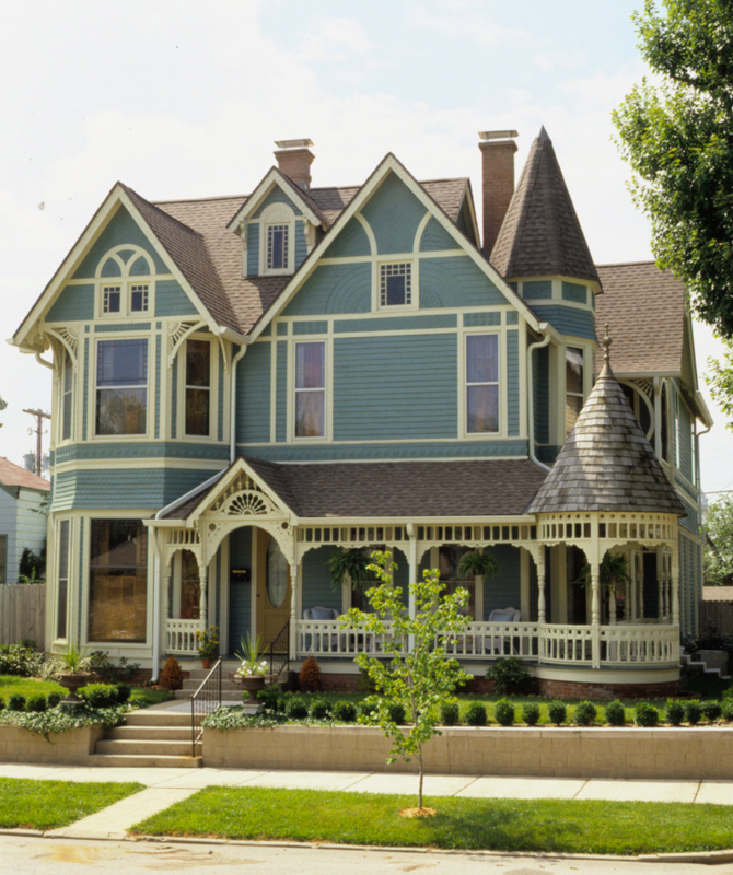 Get the look queen anne architecture traditional home for Queen anne victorian house