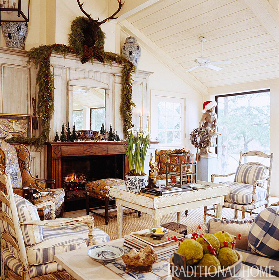 Traditional Home Interiors: Charles Faudree's Country Cabin