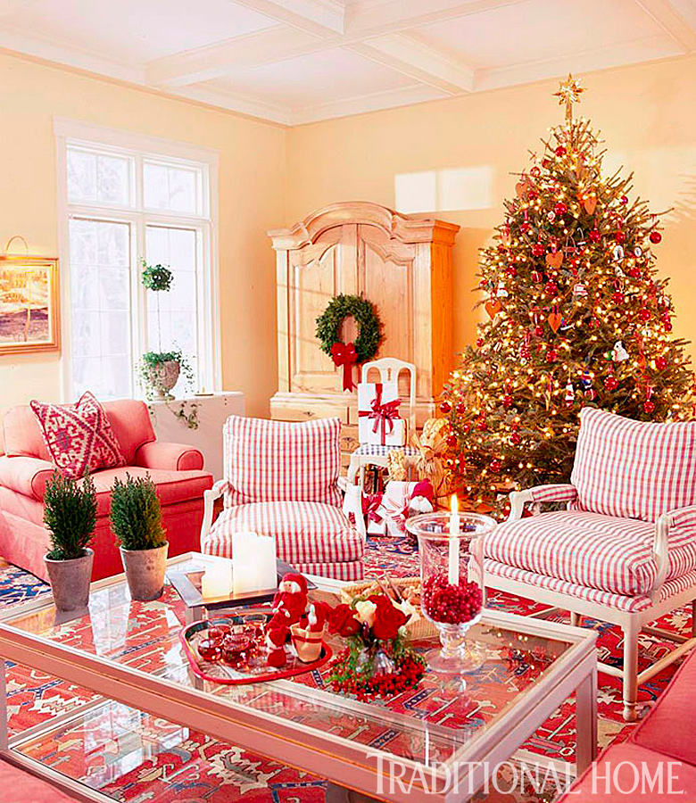 decorations for a family room 25 years of beautiful holiday rooms traditional home