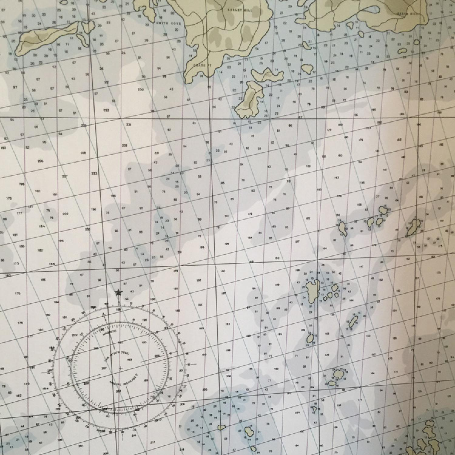 Nautical chart wallpaper
