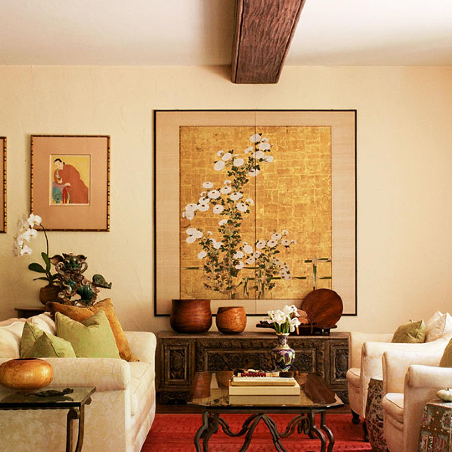 Asian Inspired Living Room: East Meets West: Hawaiian Home