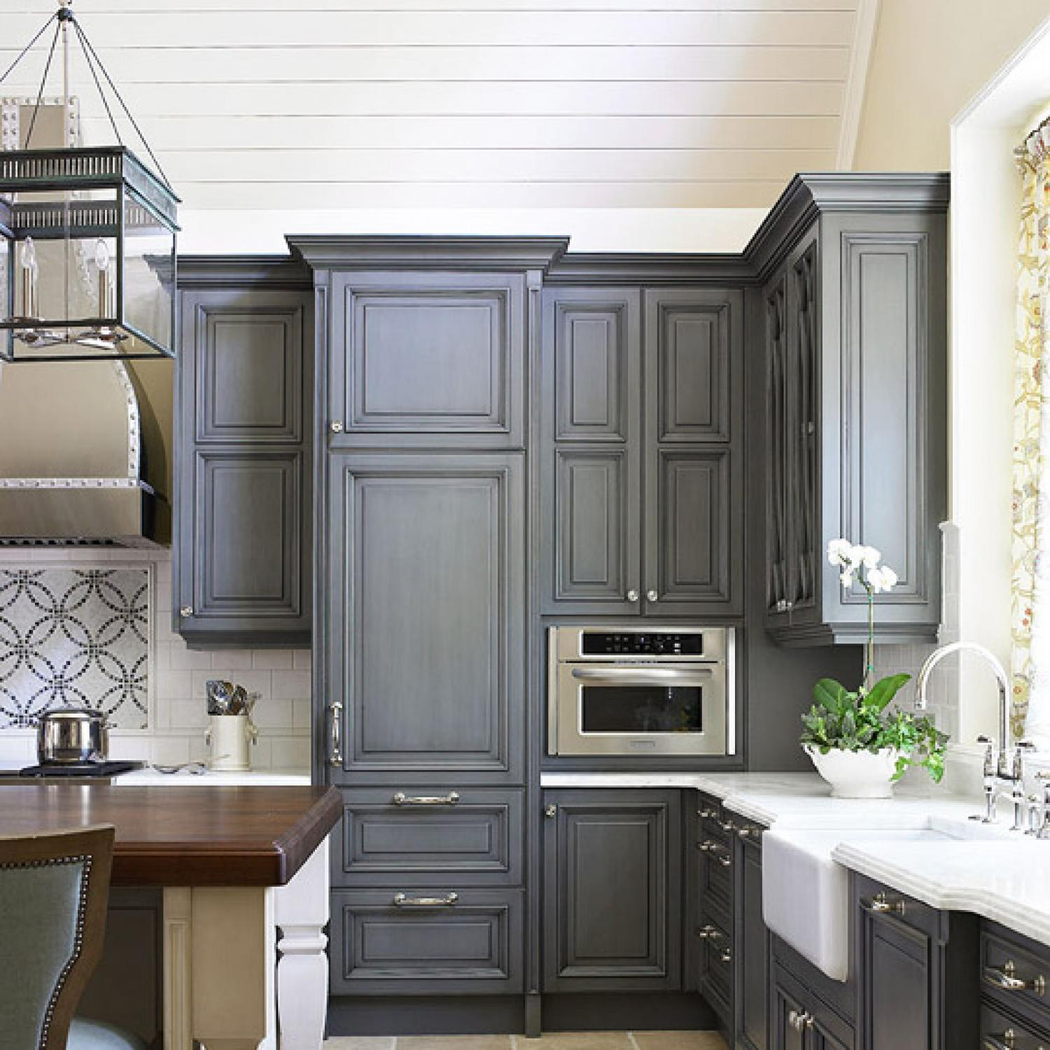 Kitchen Furniture: Kitchen Cabinets With Furniture-Style Flair