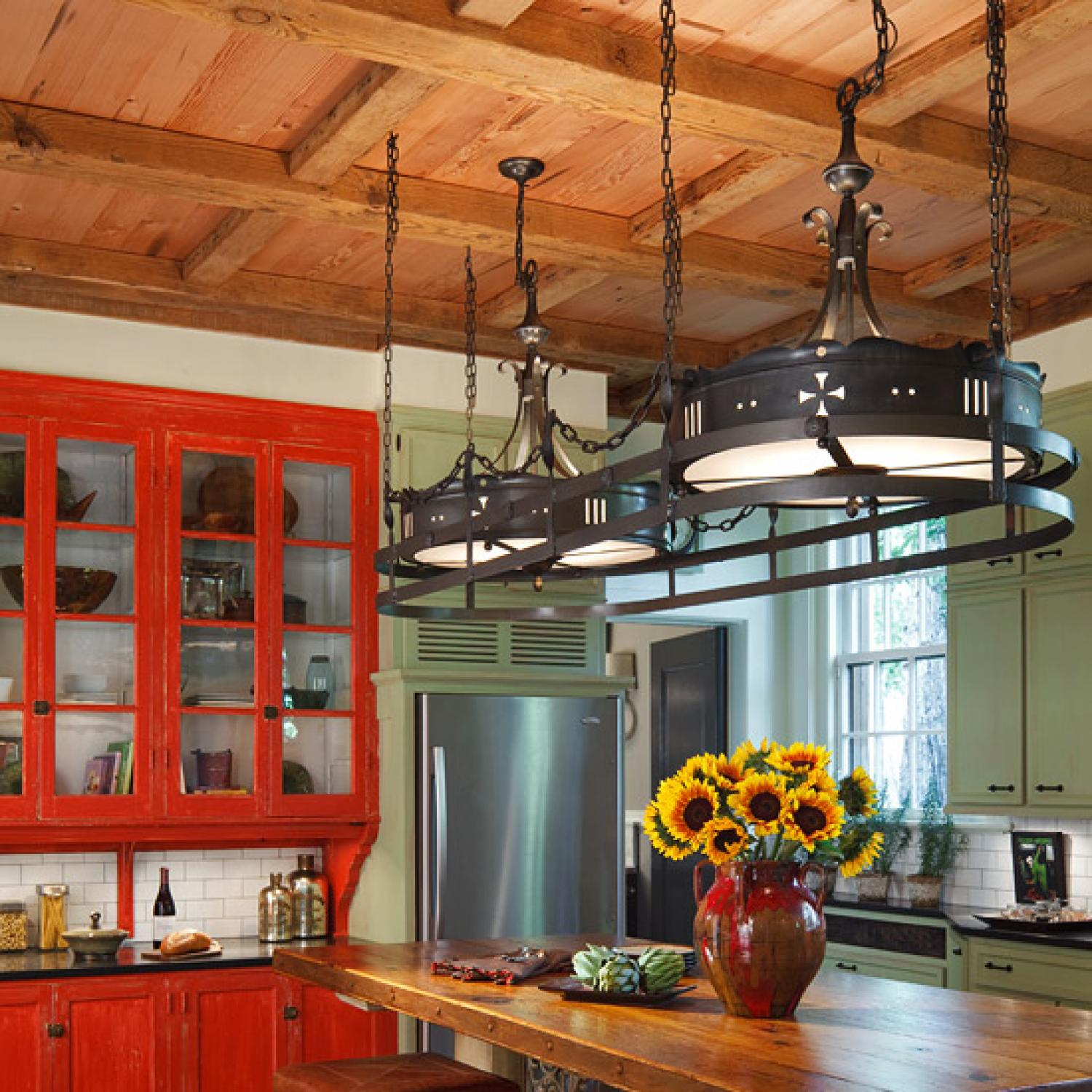 Colorful Kitchens With Charisma Traditional Home