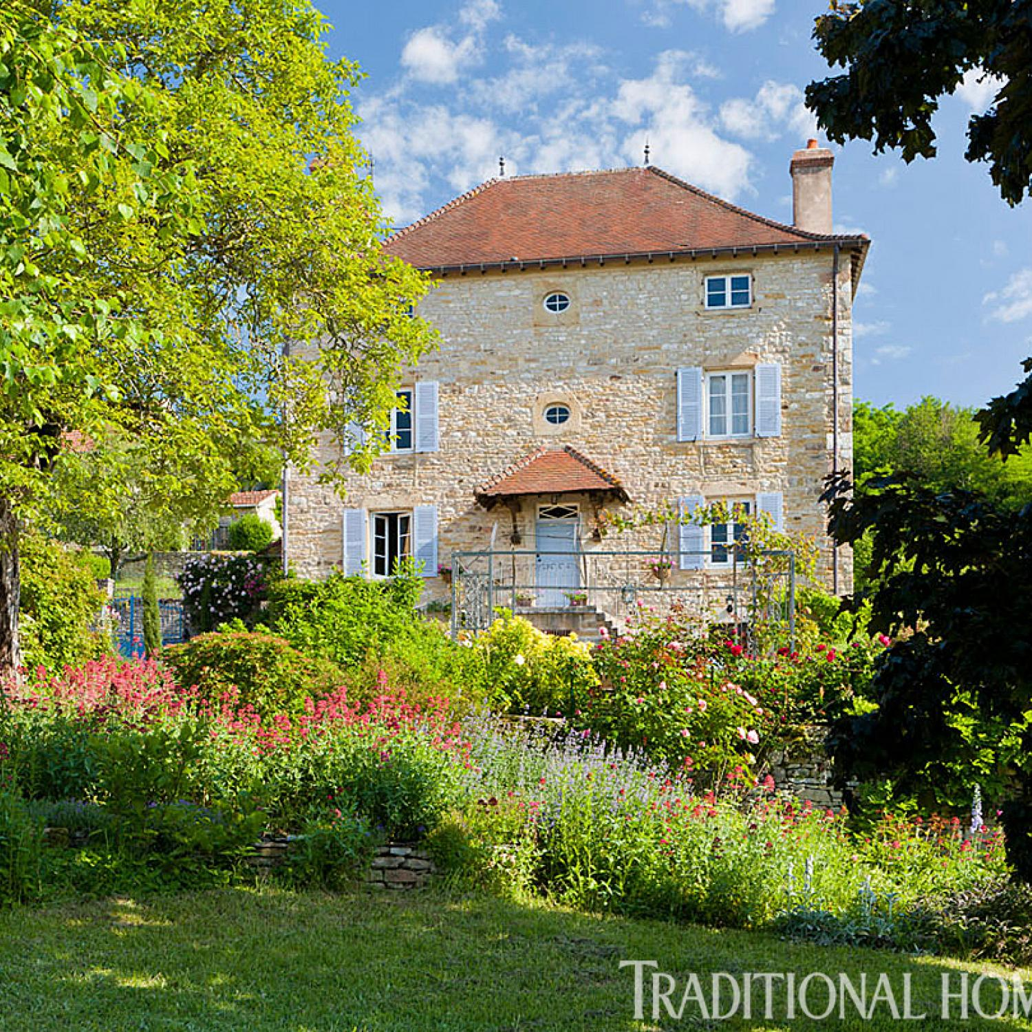 British garden in the french countryside traditional home - Countryside dream gardens ...