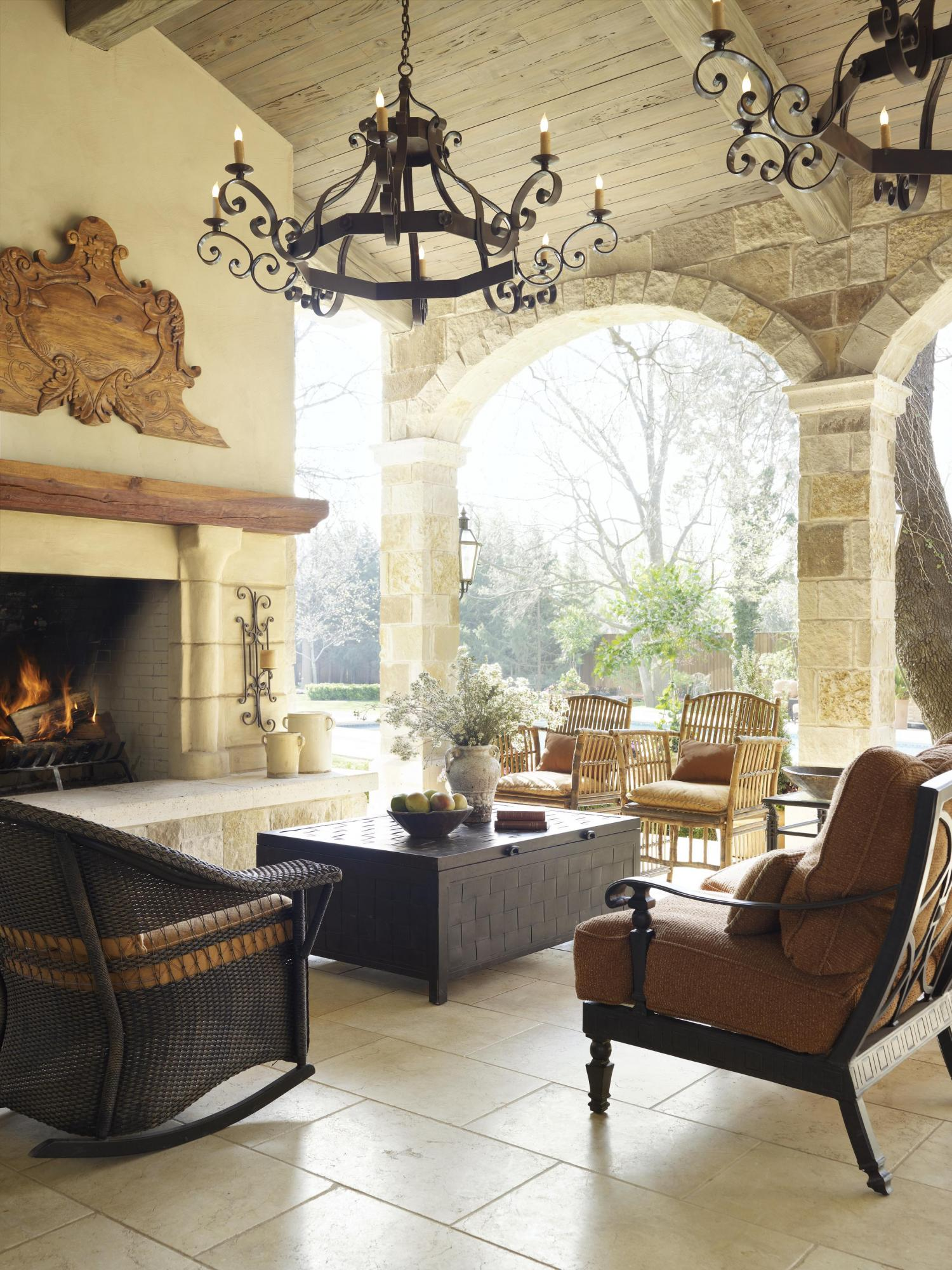 Alfresco Living Spaces with a Mediterranean Flair | Traditional Home
