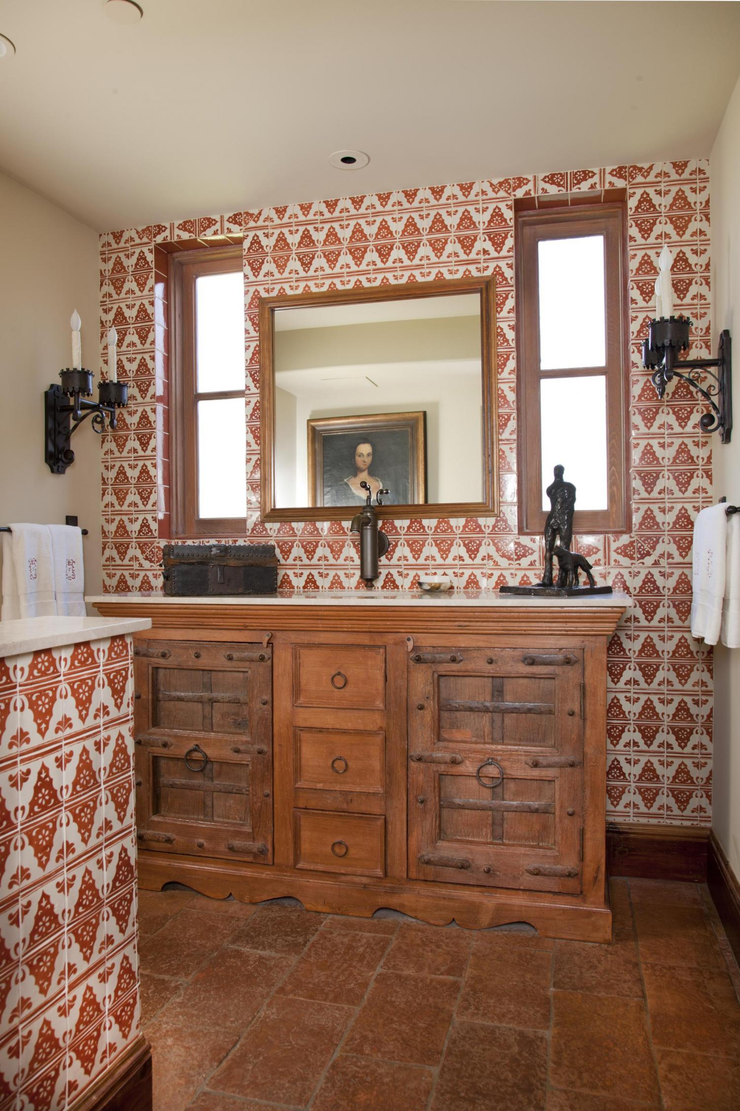 Mediterranean-Style Powder Rooms