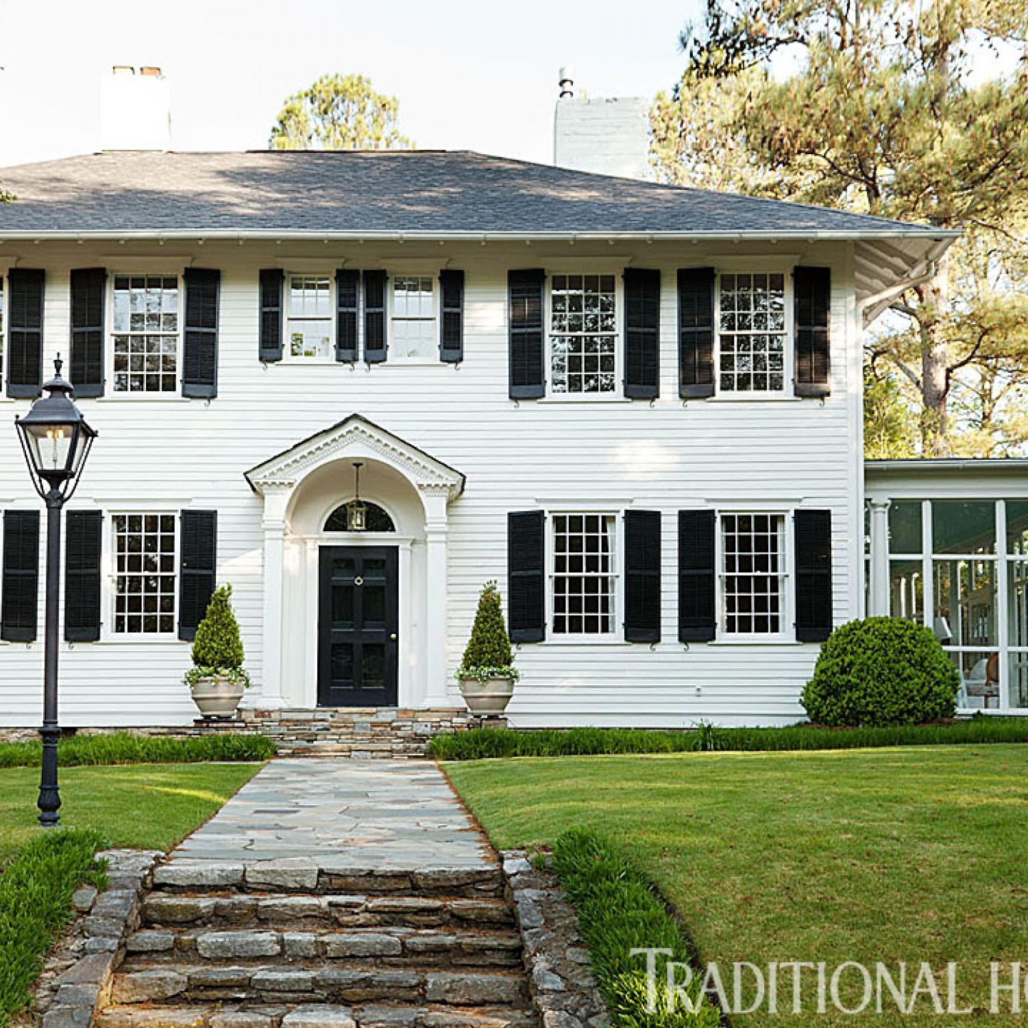 Colonial Home Design Ideas: Before And After: Updated Atlanta Classic