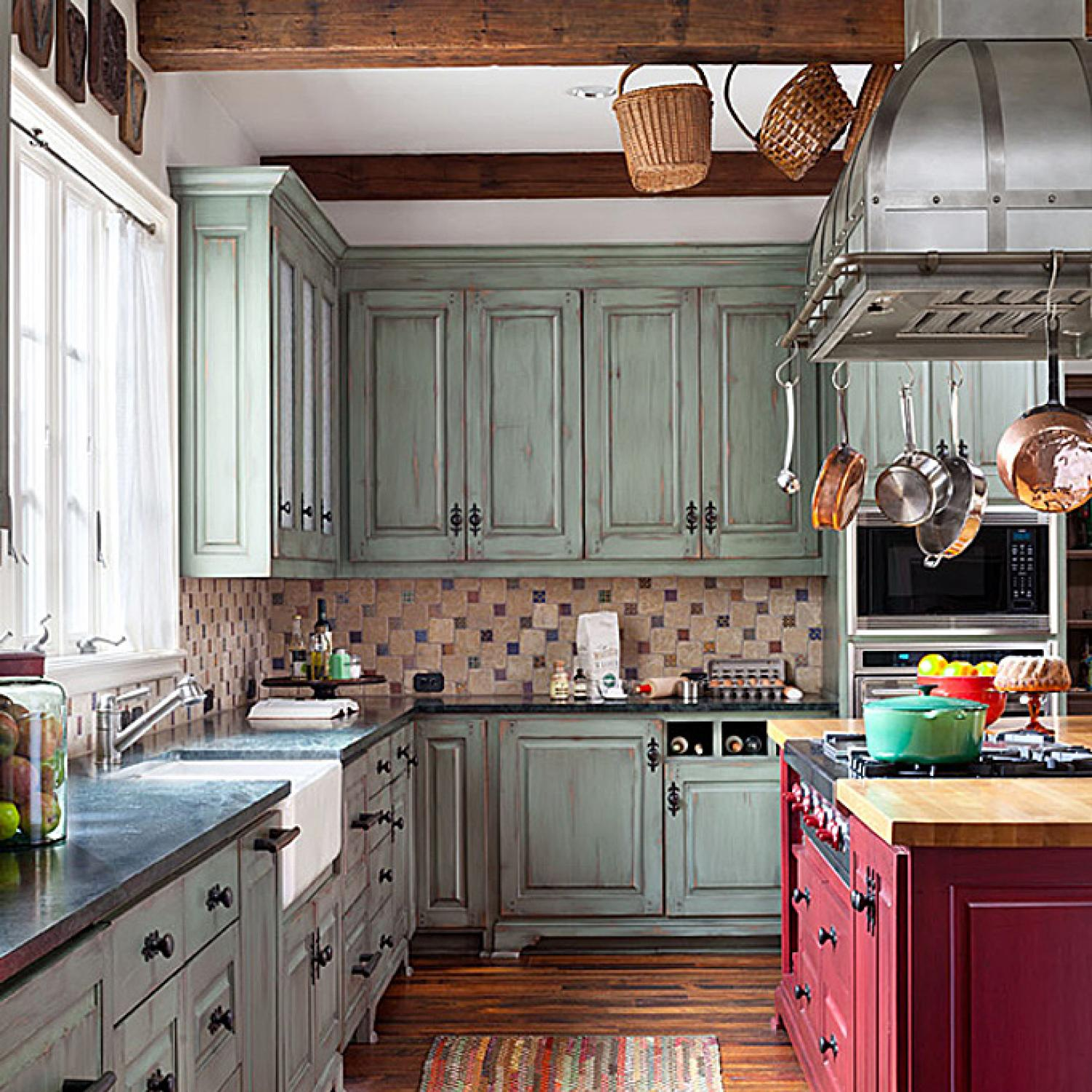 Cool Calm And Functional Kitchen: Pretty, Functional Kitchen For A Foodie