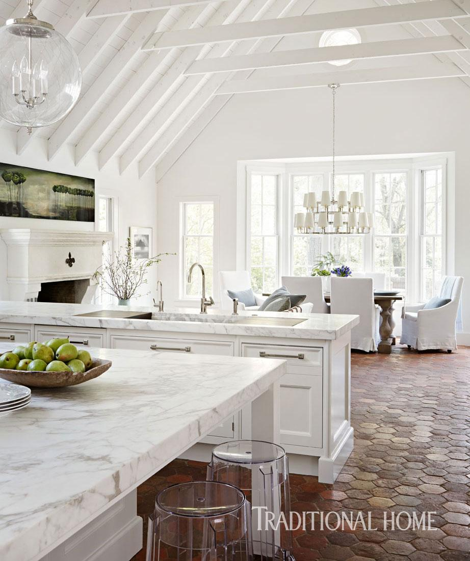Gorgeous White Kitchen Traditional Home