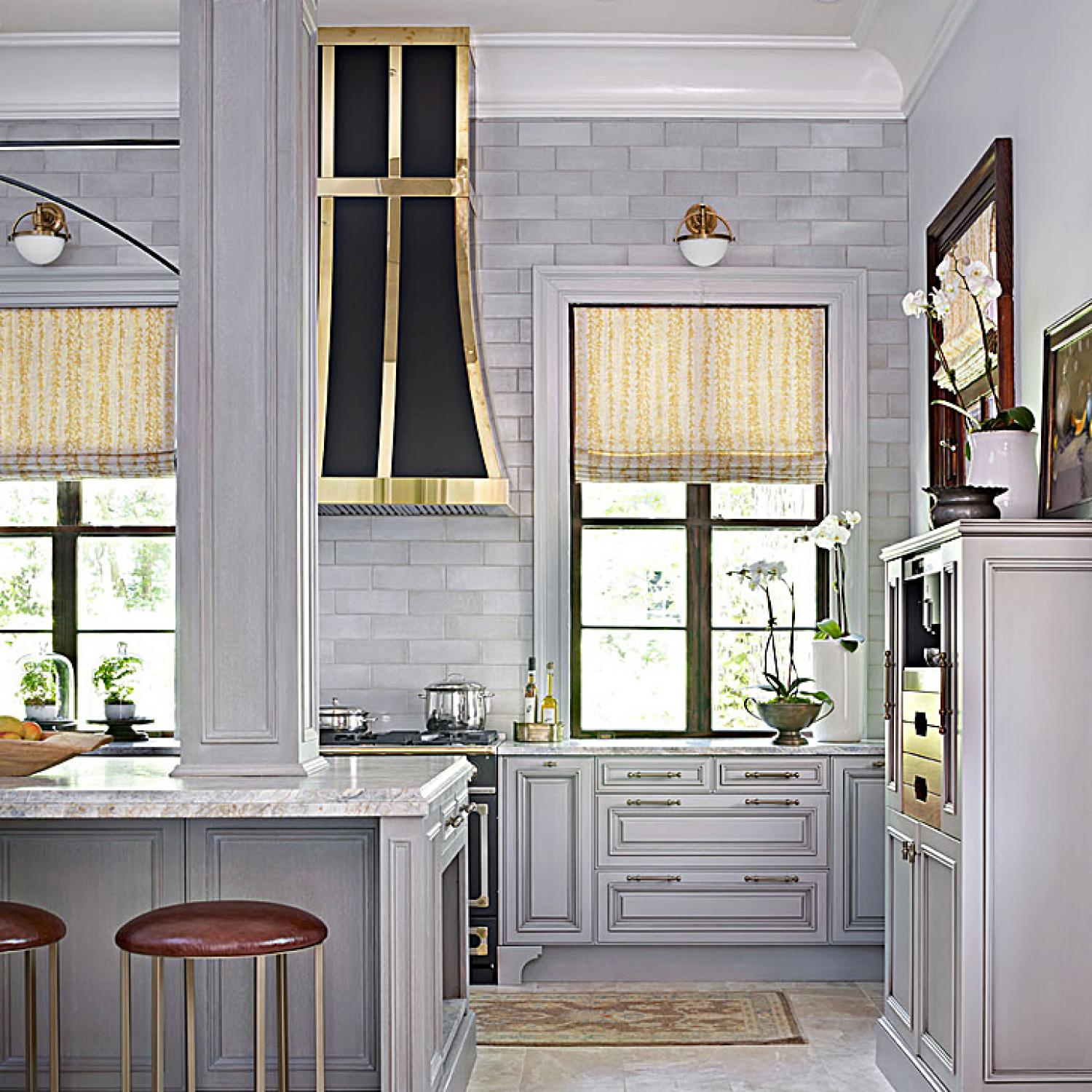 Glamorous Gray Showhouse Kitchen