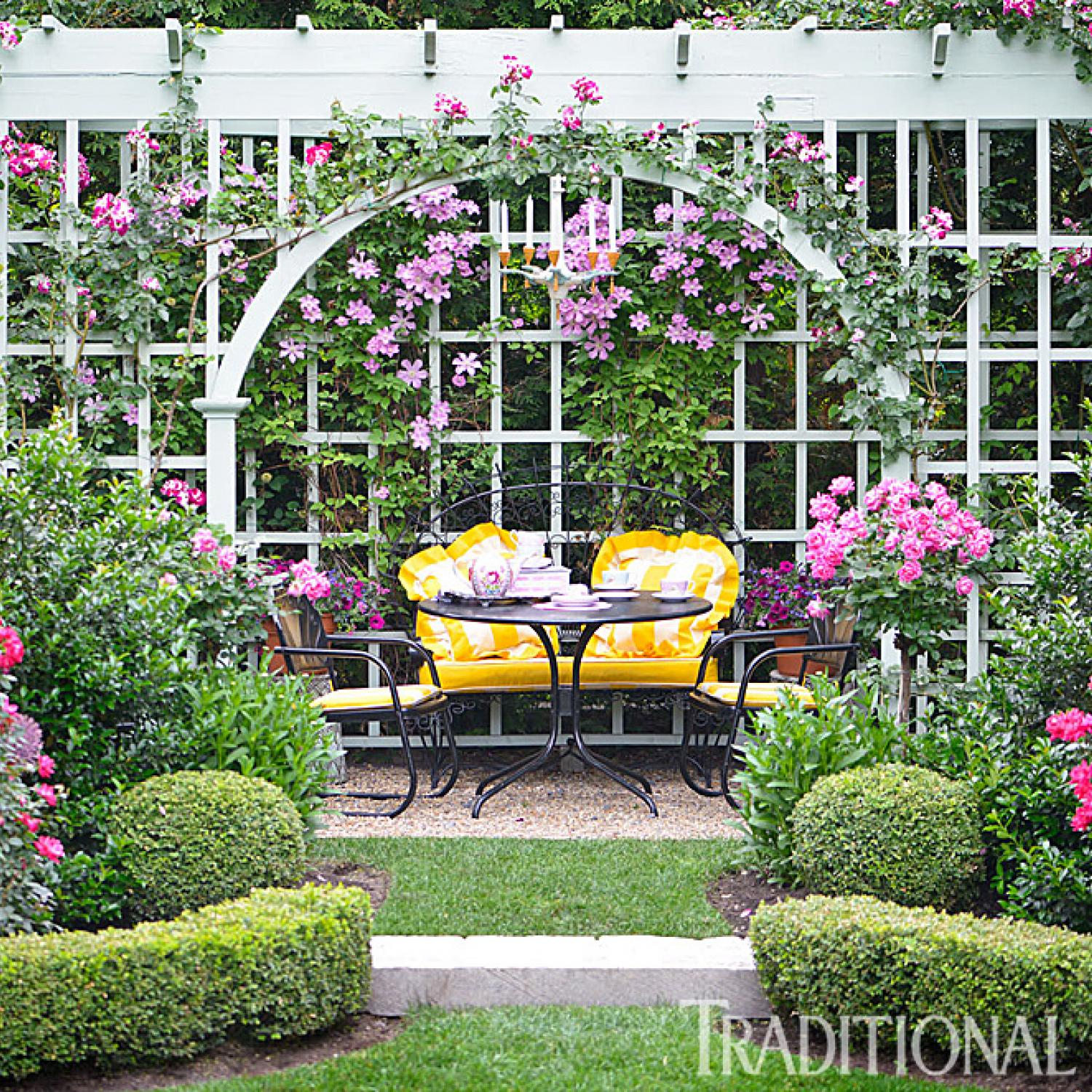 before and after enchanting english garden