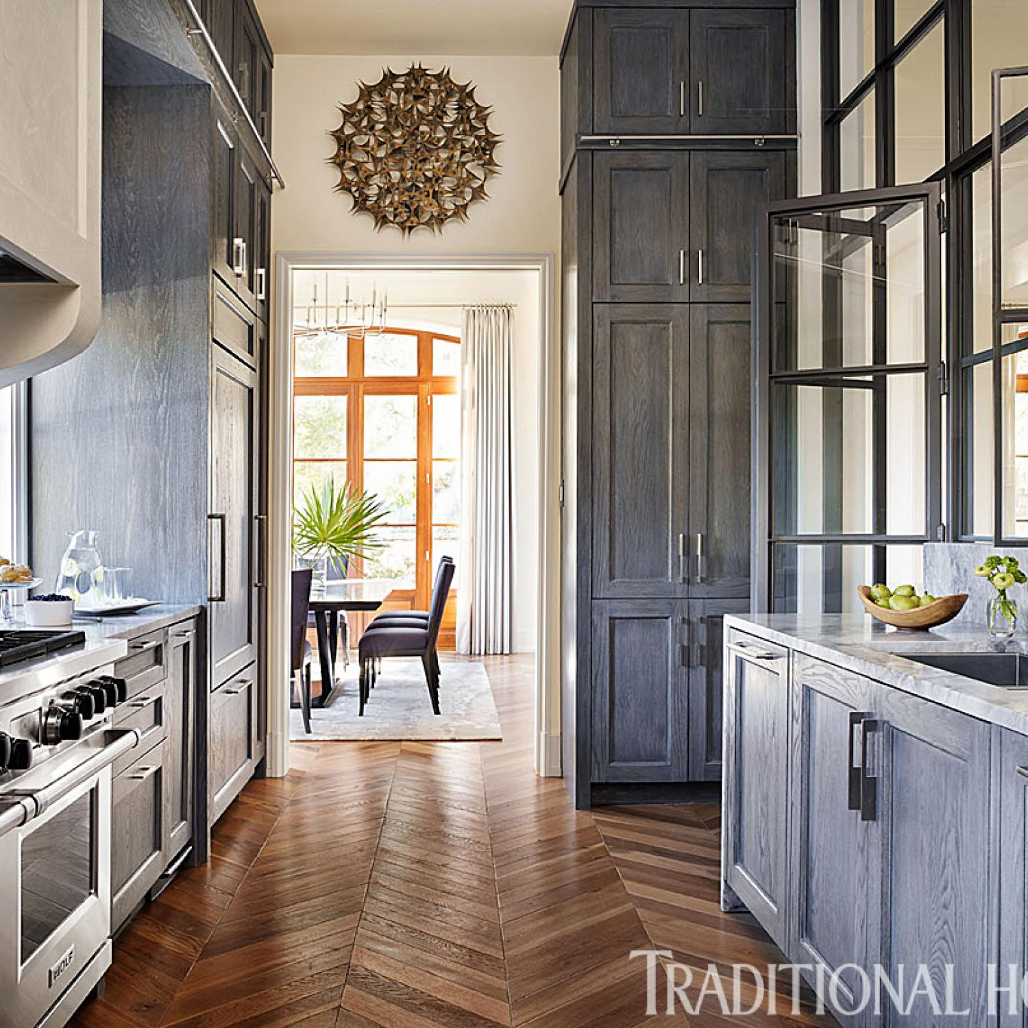 Smart kitchen dressed in stylish neutrals traditional home for Building traditional kitchen cabinets by jim tolpin