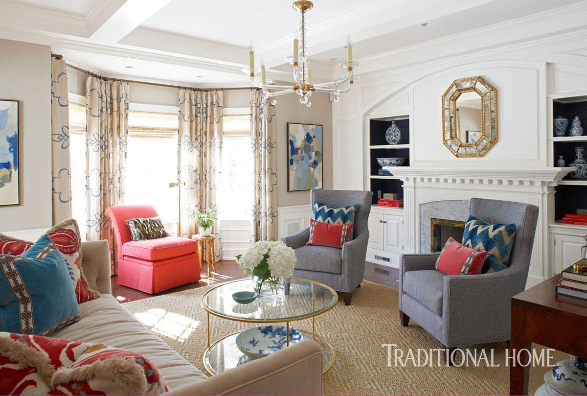 Bold Color In A New England Home Traditional Home