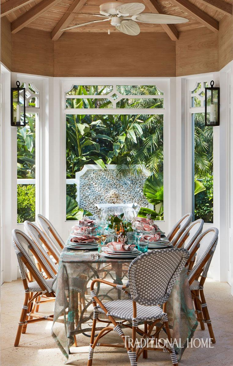 Florida Gathering With A Tropical Menu Traditional Home