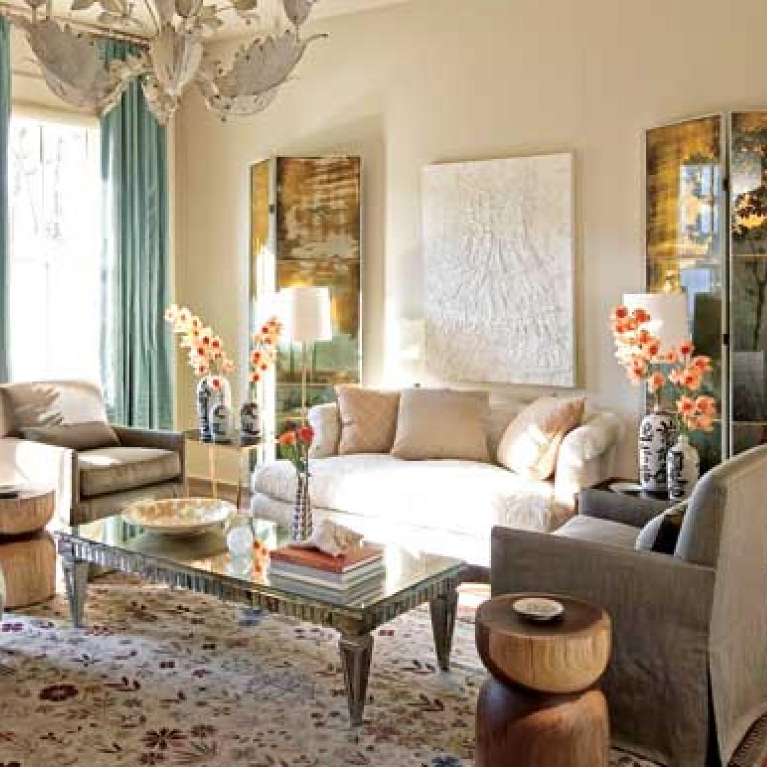 Atlanta showhouse girls just wanna have fun traditional for Vintage living room designs
