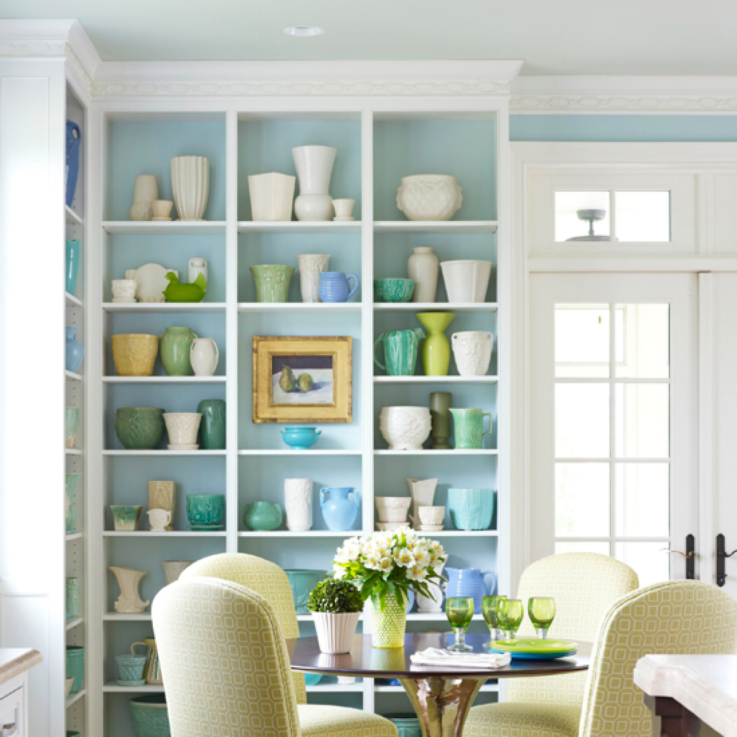 Arrange Shelves to Showcase Collections | Traditional Home
