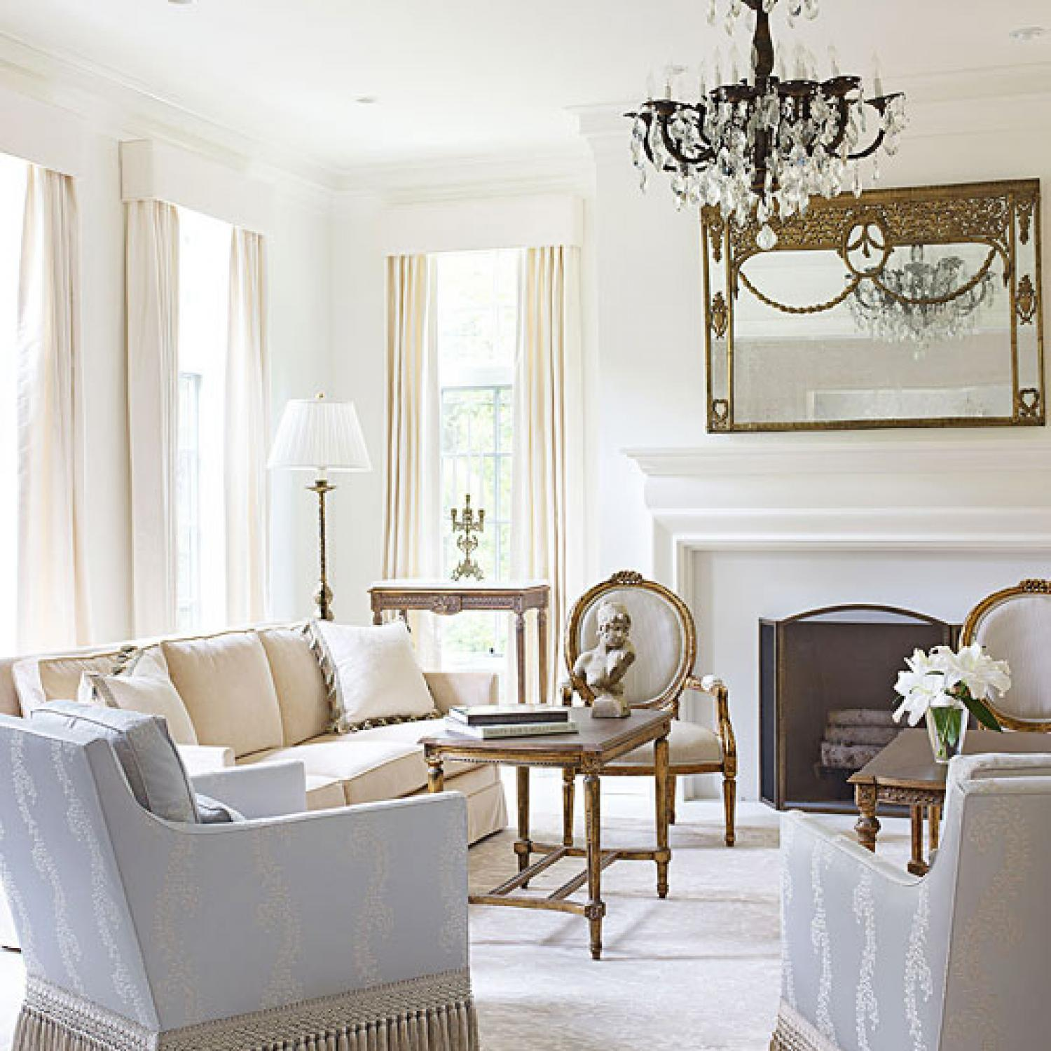 Bright White and Inviting Family Home Traditional