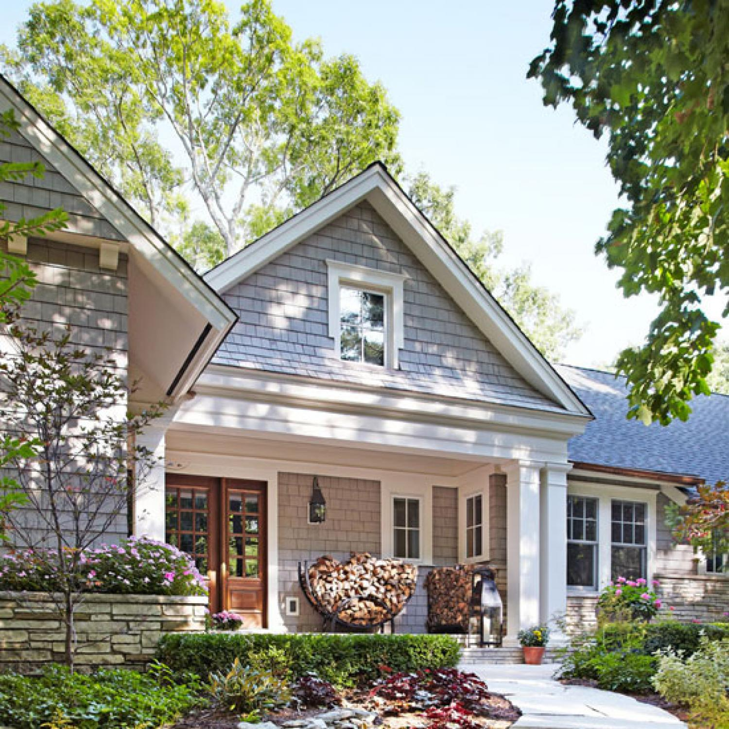 Before and after remodeled ranch house traditional home for Traditional style house