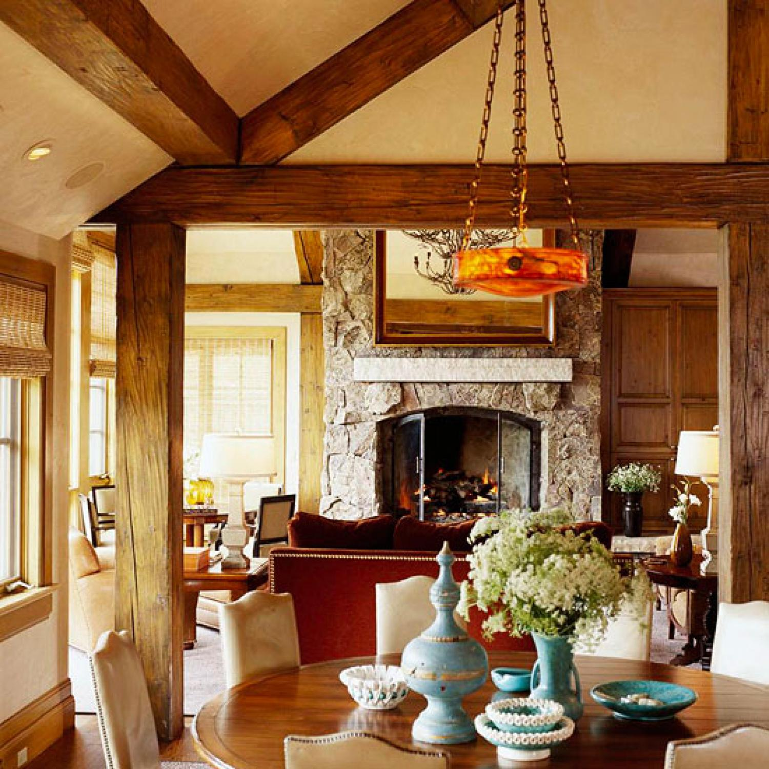 comfort and style for a rustic mountain home traditional home