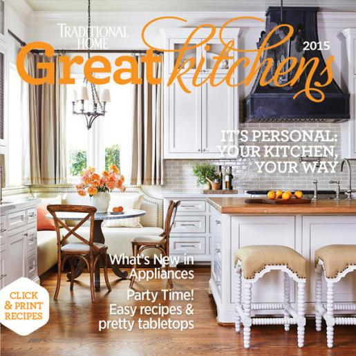 Traditional home magazine 2013 great kitchens traditional home