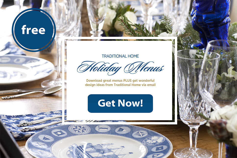 Traditional Home Holiday Menus - Get Now!