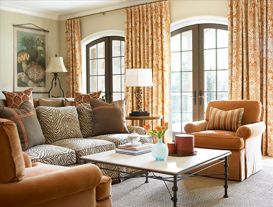 Warm And Inviting Family Room