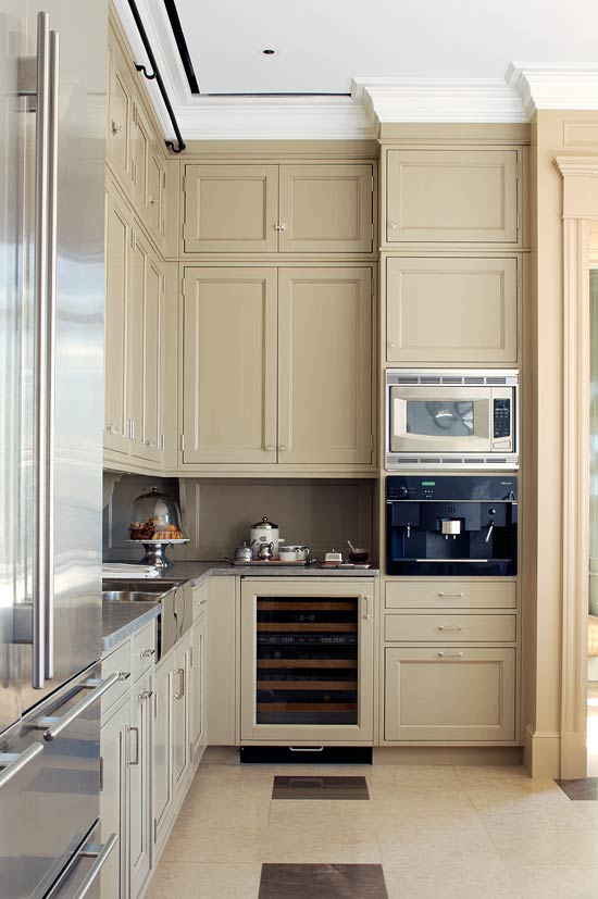 white kitchen cabinets beige walls colorful kitchens with charisma traditional home 28690