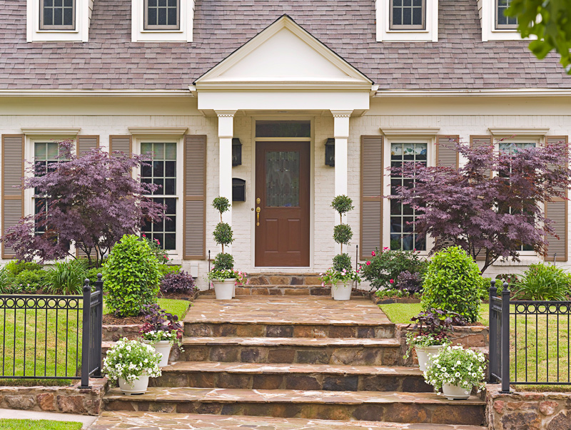 Enlarge Stately Front Entries Colonial Revival Style Homes