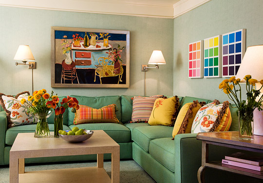 colorful walls living rooms colorful living rooms traditional home 16814