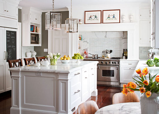 John Bessler. White cabinets from Christopher Peacock ...