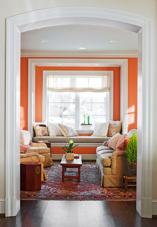 window seat in living room decorating ideas 15 window seats traditional home 20120