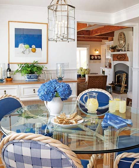 Clic Blue And White Dining Room