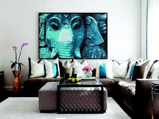 Enlarge Turquoise Living Room